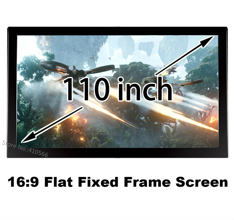 Large Cinema Screen 110 Inch Flat Fixed Frame DIY 1080P Projector Screens 16 To 9 Ratio For Sale hd projector projection screen 300inch 16 9 format outdoor fast folding frame screens for camping music party