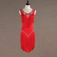 sequins tassel latin dress salsa costumes tango dress dance wear latin dance dress women samba costume dance clothes for dancing
