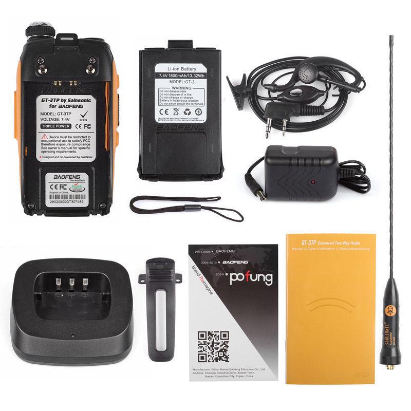 Baofeng GT-3TP MarkIII TP 1/4 / 8Watt High Power Dubbelband 2M / 70cm - Walkie talkie - Foto 6