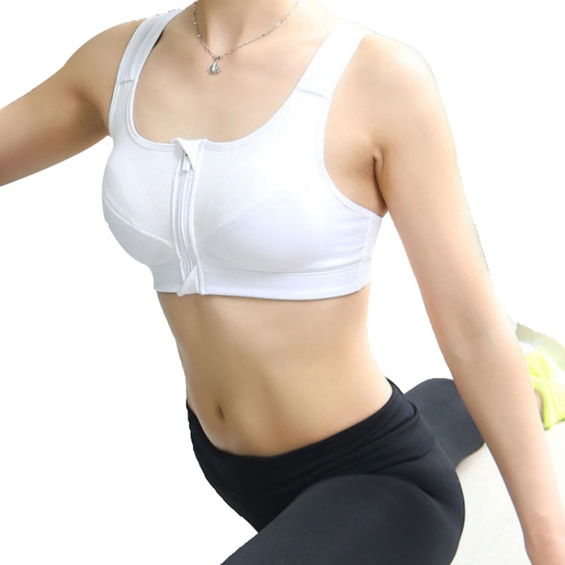 2016 Frauen Bh Fitness Stretch Workout Top Nahtlose Bh Reißverschluss Weste D1