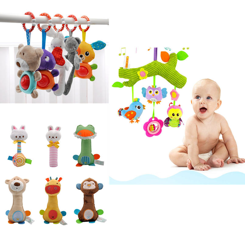Soft Infant Crib Newborn Baby Toys 0-12 Months/educational/music Rattles Bed Toys For Toddlers/stroller Animal Hand Bell