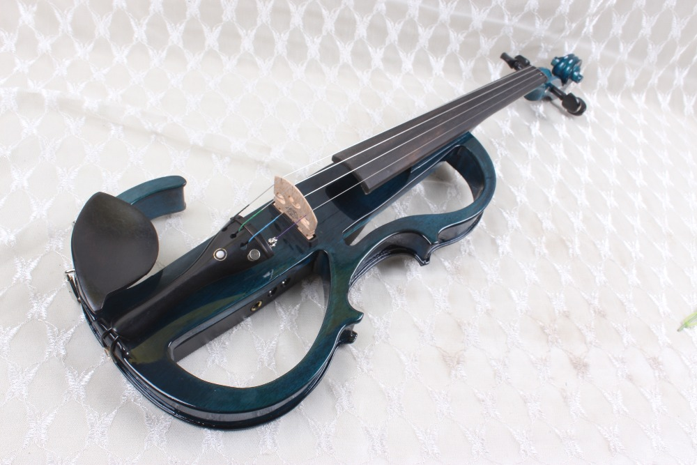 4/4 blue  4 string Electric violin High quality   good  pickup 4 4 5 string new violin neck man head hand carve high quality 1 2