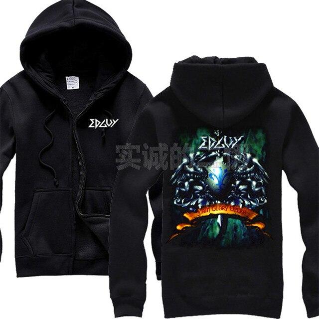 Venta caliente 7 clases Harajuku edguy algodón Rock Sudaderas chaqueta  sudadera Chandal hombre sudadera con cremallera 1e0ec8024ee