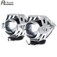 2Pcs Set LED Motorcycle Headlight 125W U5 Waterproof LED Fog Light 3000LM Motorcycle Light Driving Spot