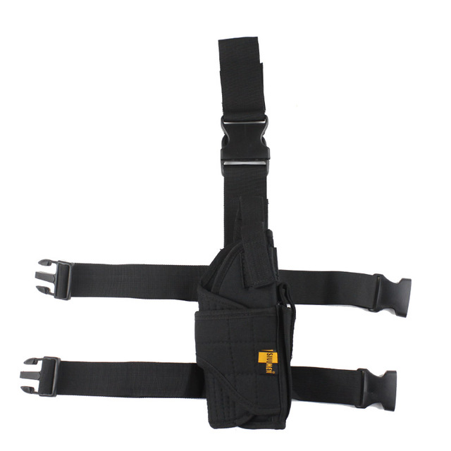 Adjustable  Military Airsoft Holster Hunting Tactical Pistol Drop Leg Holster Thigh Gun Holster for right hand  5