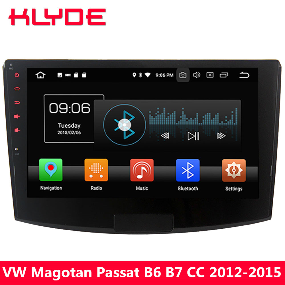 KLYDE 10.1 4G Octa Core Android 8.0 4GB RAM 32GB ROM Car DVD Multimedia Player For Volkswagen Magotan Passat B6 B7 CC 2012-2015