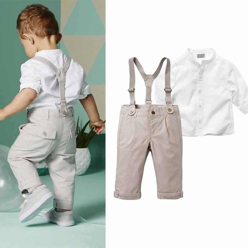 Toddler Boys Clothing Set Summer Baby Suit Shorts Shirt Children Kid Clothes Suits Formal Wedding Party Costume Autumn