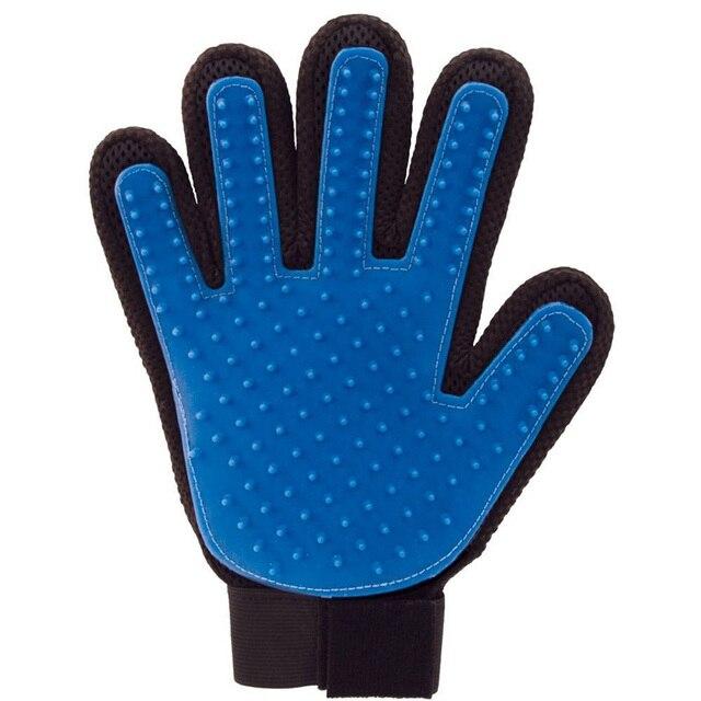 True Touch Pet Finger For Cat Dogs Pet Brush Glove Shedding Pet Hair Glove For Cat Gentle Efficient Finger Massage Grooming S1