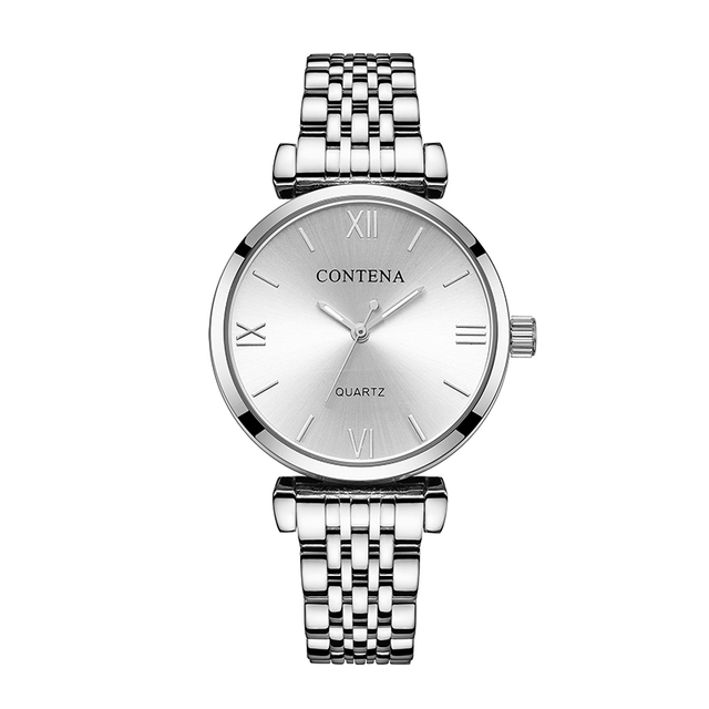 CONTENA Women's Watches Top Brand Luxury Bracelet Watch Women Watches Full Steel
