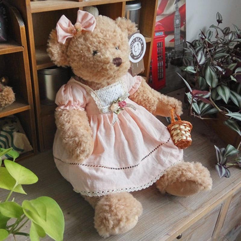 1pc  45cm Cute Teddy Bear Plush Toys  Stuffed Animal Doll Teddy Bear With Clothes Kidz Children Gifts Girl Christmas Presents