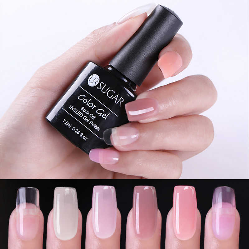 UR SUIKER Quick Building Poly Extension Gel Clear Pink Nail Tips UV Gel Jelly Acryl Nagel Art Poly Builder vernis