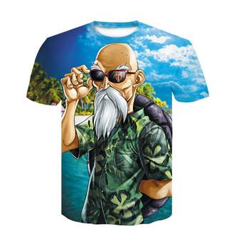 12c138f8 2018 New Arrival Funny Master Roshi 3d T Shirt Summer Hipster Short Sleeve  Tee Tops Men/Women Anime Dragon Ball Z T-Shirts Homme