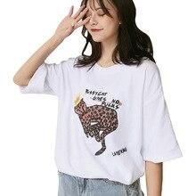 Summer Women T shirt Cartoon Print tshirt Korea tops kawaii tees  Casual Loose Tshirt new