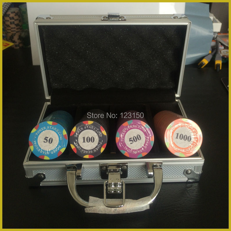 CP-018(A) Poker Stars.com, Ceremic Casino Chips, 100pcs in Aluminum Case, Shipping Free леска sufix super 21 fluorocarbon 0 28 мм 150 м 5 4 кг кусачки rcdmc