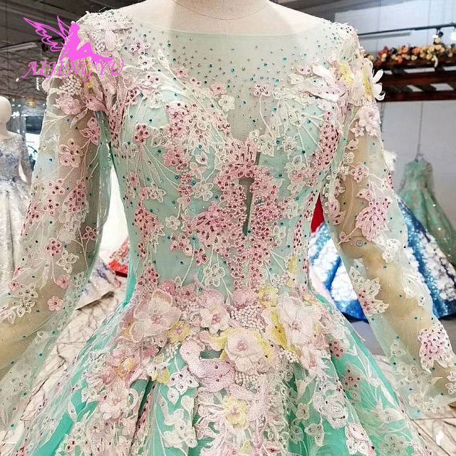 AIJINGYU Wedding Dress Summer Gowns Pearl Muslim Veil Stores White Poland Indonesia Marvel Beads Cheap Wedding Dresses For Sale
