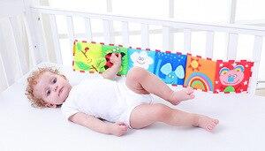 Image 4 - BOLAFYNIA Bé sơ sinh Sách vải 2 mặt màu trắng đen đầu giường Sách vải trẻ em Đồ chơi Giáo Dục