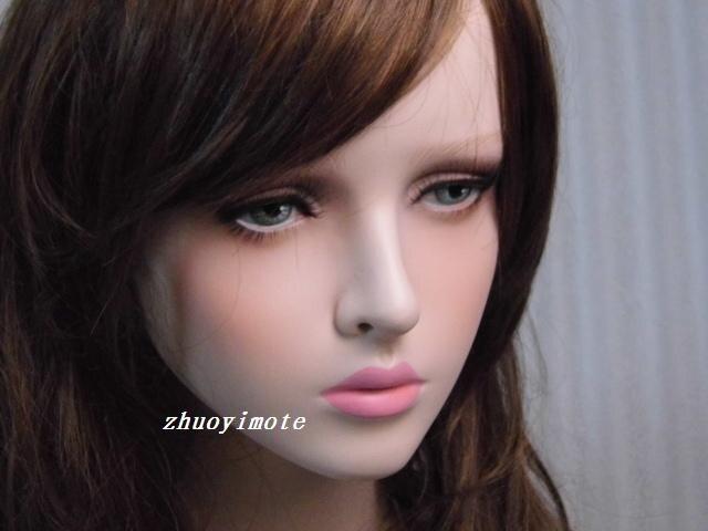 Mannequin femme réaliste en fibre de verre de haute qualité tête factice buste tête de mannequin tête de perruque - 3