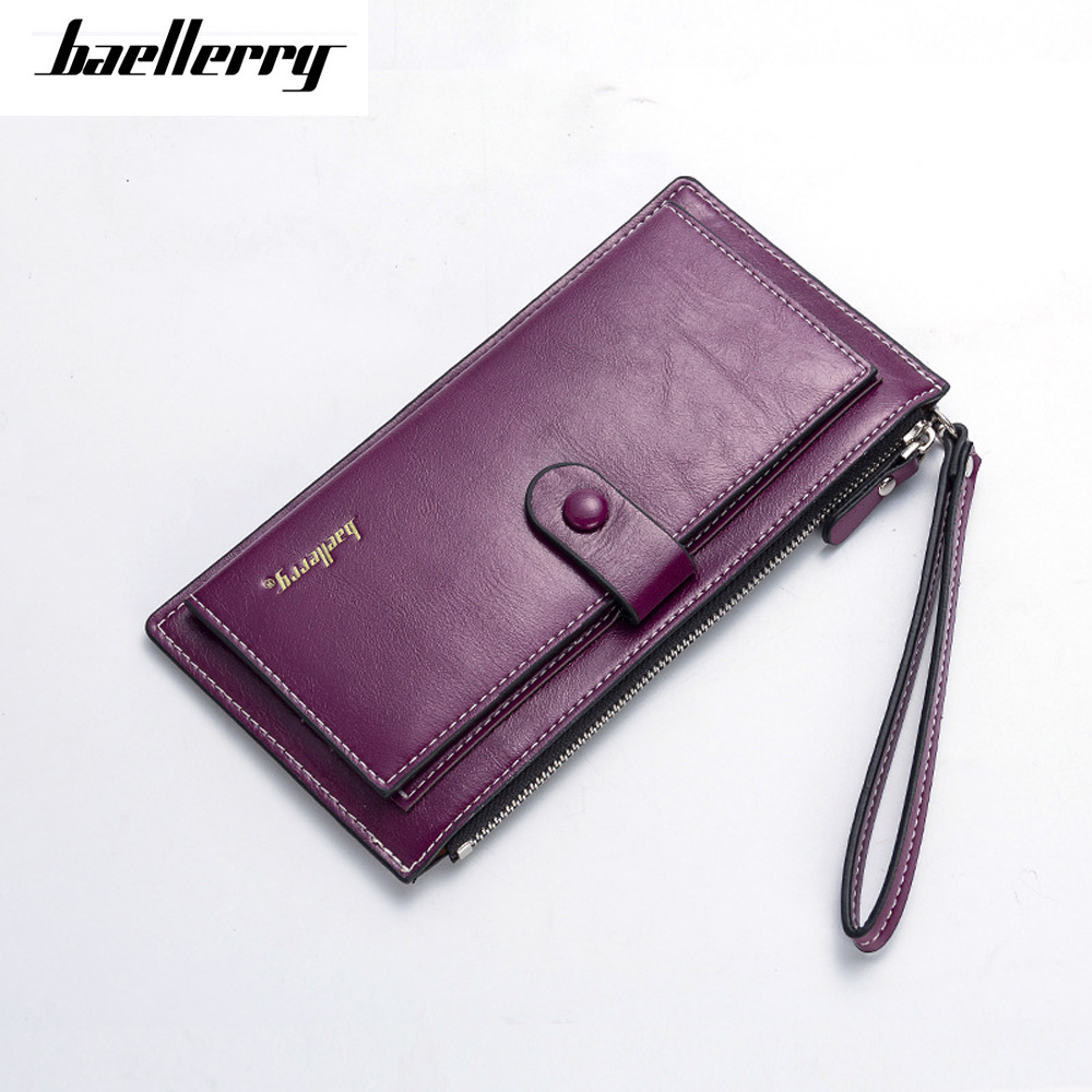 High Quality Oil Wax Pu Leather Women Clutch Bags Organizer Purse  Phone Bag Wristlet Mini Handbags Fashion Summer Girl Gift