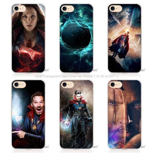 Doctor Strange Hard Transparent Phone Case Cover for Apple iPhone 4 4s 5 5s SE 5C 6 6s 7 Plus