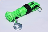 Green 10mm 30m Synthetic Winch Rope Hook ATV Winch Kit Boat Winch Rope UTV Winch Accessories