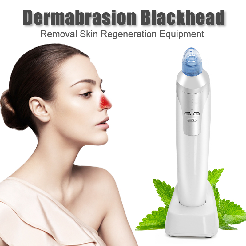 Diamond Dermabrasion Skin Care Electric Vacuum Suction Blackhead Acne Remover Facial Skin Cleansing Pore Cleaner Beauty Massage original package electric facial pore cleanser blackhead suction acne remover removal 2 in 1 facial steamer spray moisturizer