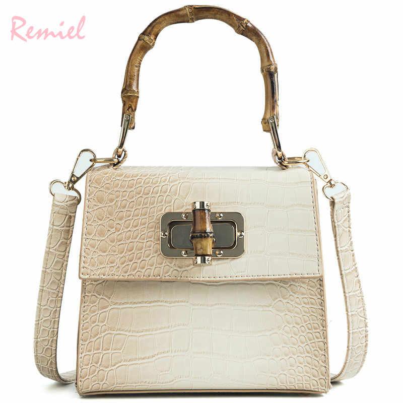 217b758cf3 Women s Designer Handbag 2018 Fashion New Quality PU Leather Women bag  Crocodile pattern Tote bag Simple