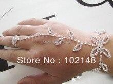 Продвижение Высокое качество посеребренные свадебные ручной ювелирные изделия цепи с палец кольцо для леди упаковка подарочная коробка