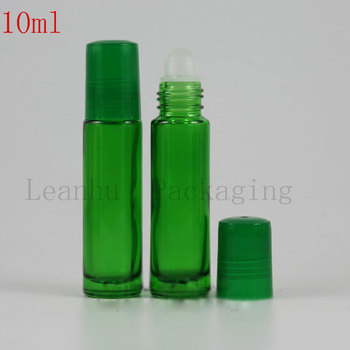 10ml Green Roll on Bottles For Essential oils,Cosmetic Travel Containers,Small Glass Bottles,DIY Cream Jars Ccosmetic Packaging