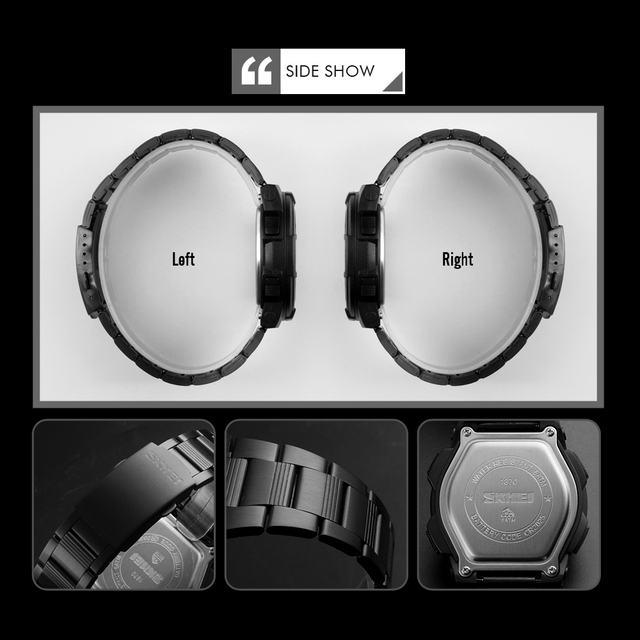 SKMEI Brand Men Watch Fashion Quartz Sports Watches Stainless Steel Mens Watches Top Luxury Business Waterproof Wrist Watch Men
