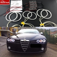 HochiTech WHITE 6000K CCFL Headlight Halo Angel Demon Eyes Kit Angel Eyes Light For Alfa Romeo