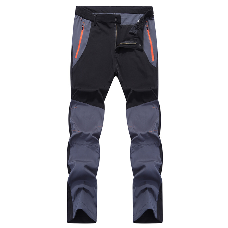 High Quality 2020 Spring Summer Cargo Zipper Pocket Patchwrok Cargo Sweat Quick Dry Wear-resisting Nylon Strtch Trousers Men