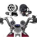 Hot Universal Par Motocicleta Da Bicicleta do Guiador Monte 2 Alto-falantes Amplificador de Som Do Telefone Rádio FM Áudio Estéreo MP3 DC 10-16 V