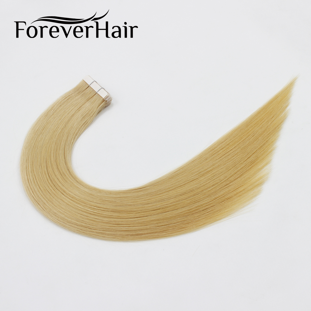 FOREVER HAIR 2 0g pc 18 Remy Tape In Human Hair Extension Dark Blonde 22 20pcs