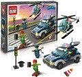 Kits de edificio modelo compatible con lego city police 554 bloques 3D aficiones modelo Educativo y juguetes de construcción para los niños