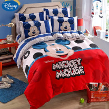 4ps Mickey mouse Bedding Set Cover pillowcase quilt minnie cartoon Children bedclothes bed set Disney  Home textile