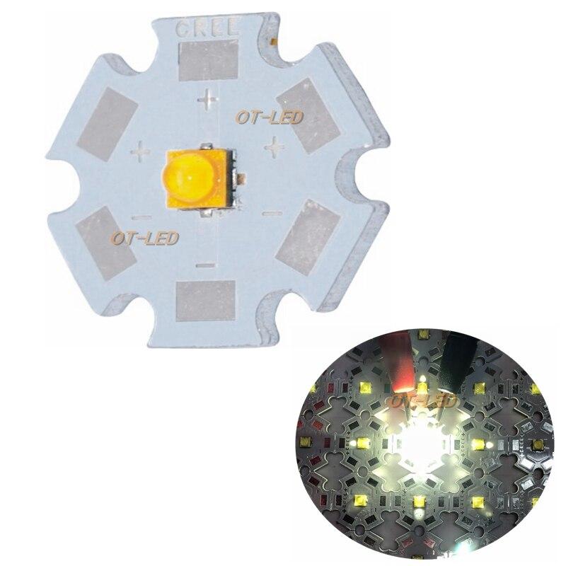 10pcs 100PCS Cree XTE LED XT-E 1-5W LED Emitter Pure White 6000K Neutral White 4500K Warm White 3000K Diode Chip With 20MM PCB mc e bin k wc bare emitter w cree led