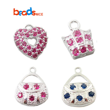 Beadsnice Sterling Silver Pendant Charm for Necklace Making with Crystal Jewelry Supplies 24307