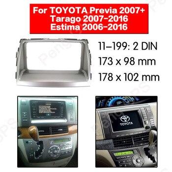 2 DIN Car Radio stereo Fitting installation adapter fascia For TOYOTA Previa 2007+ Tarago 2007-2016 Estima 2006-2016 frame Audio