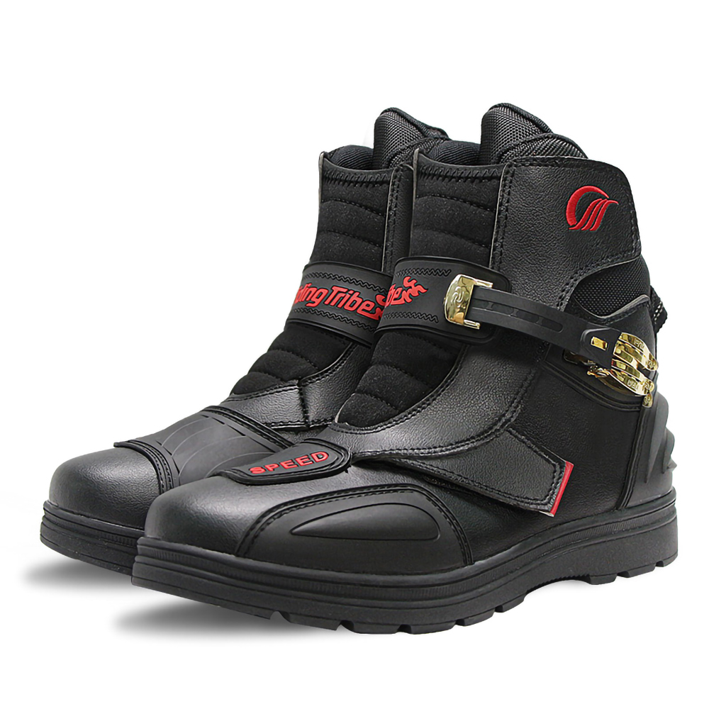 Motorrad Stiefel Motorrad Schuhe unisex Motocross Stiefel Biker Boot Kurze Ritter Motorrad Road Racing Reiten Durable Slip-getriebe