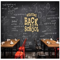 Free Shipping Custom Hand Painted Blackboard Chalk Formula Wallpaper 3d Cafe Milk Tea Shop KTV Box