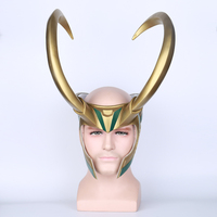 Thor 3 Ragnarok Loki PVC Cosplay Mask Helmet for Halloween Party Prop Accessories Crown Masquerade Party