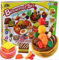 Children DIY toy 3D  Handgum fimo clay plasticine play doh  with tool kit 8 cup colors for breakfast set kids educational toys