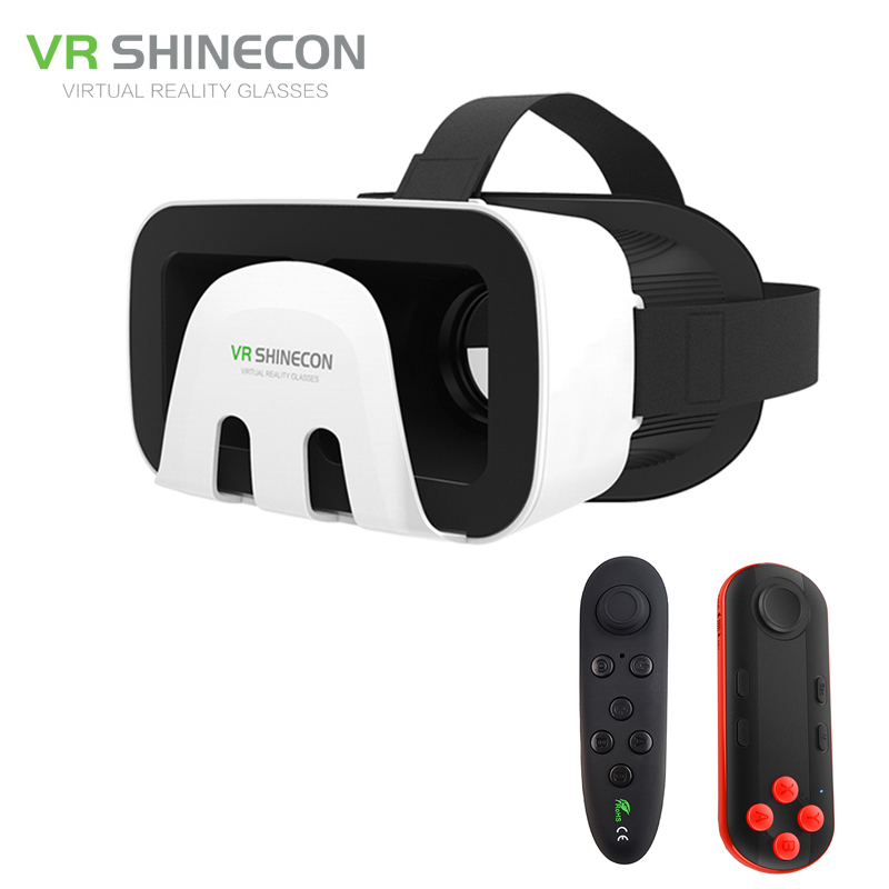 VR Shinecon 3.0 Octopus Style 3D Mobile VR Virtual Reality Glasses Head Mount Helmet ABS Shell Headset for 4.5-6′ Mobile Phone