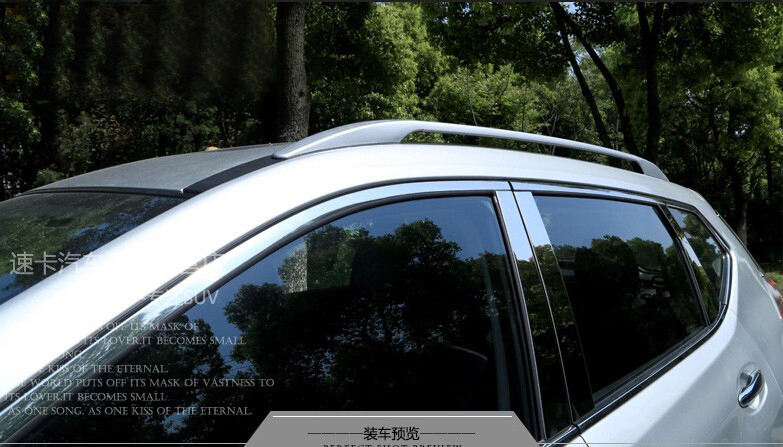 Aluminium! Silver Roof Rack Side Rails Bars Fit for nissan x-trail x trail 2014 /rogue 2014-2015 teaegg top roof rack side rails luggage carrier for hyundai tucson ix35 2010 2014