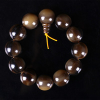 Amber Bovine Bone Synthetic Bracelet Buffalo Horn Hand Polished Bead Hand String Black Buffalo Horn Ball