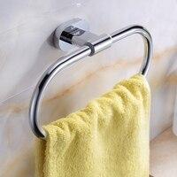 Bathroom Accessory solid brass polished chrome Round bathroom shelf holder rack suitable for Towel 9087