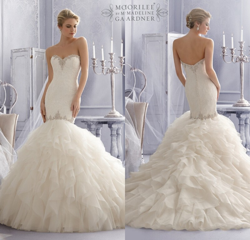 Aliexpress.com : Buy Famous Designer Sweetheart Beaded Bridal Gown ...