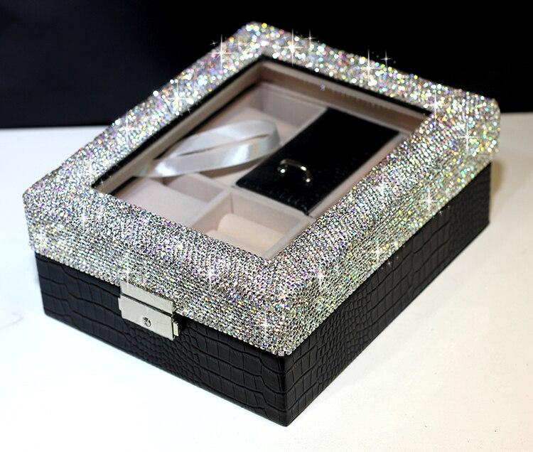Anneau de mariage boîte Montre boîtes De Stockage boîte à bijoux Cadeau de stockage boîtes De Mariage cadeaux