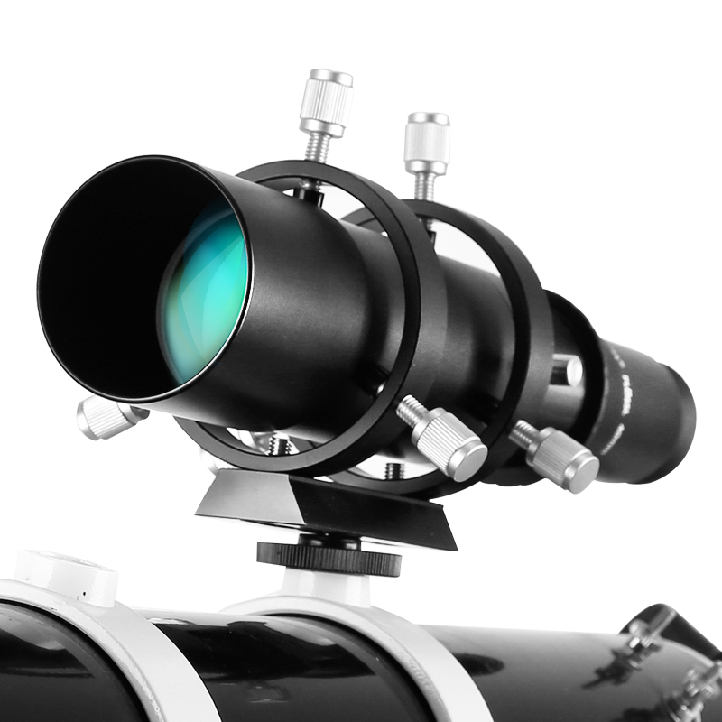 Angeleyes 50mm Guide Scope Fully Coated Guidescope Finder Eyepiece with Bracket 1 25 Telescope accessories