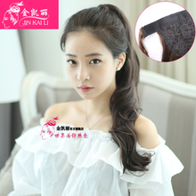 2016 Fashion women High Quality Women Synthetic Hair Ponytails Lady Long curly Ponytail Hairpiece Peluca